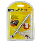 Rolson 4 in 1 Stylus, Laser, LED/ Pen