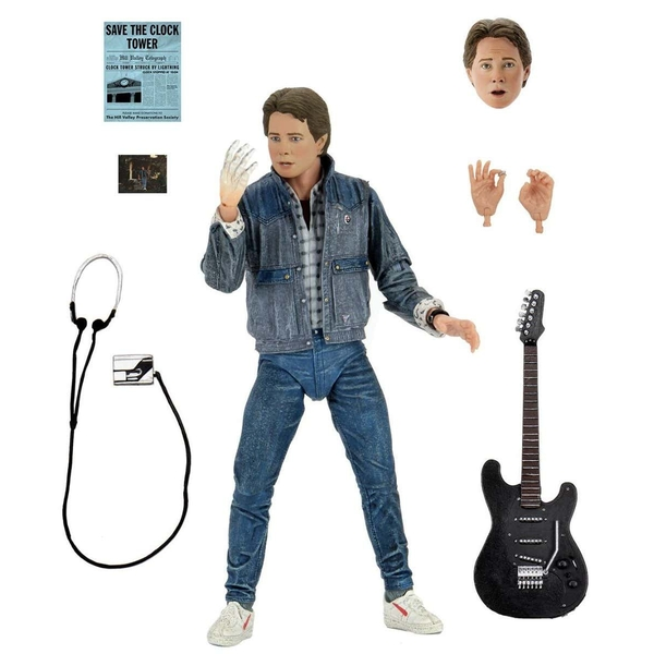 Marty McFly 1985 Guitar Audition (Back to the Future) Neca Action Figure