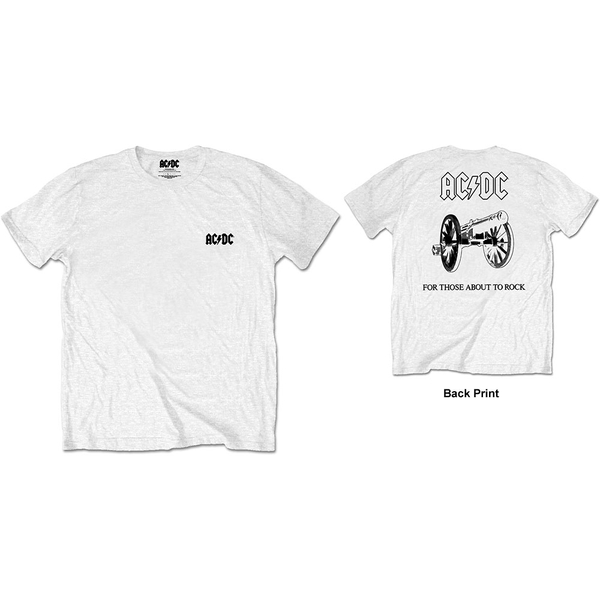 AC/DC - About To Rock Men's X-Large T-Shirt - White
