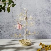 Sass & Belle Flowery Earring Stand- Cream