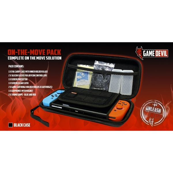 GameDevil  On The Move Pack Black Nintendo Switch