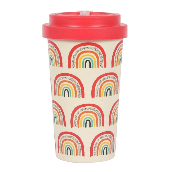 Rainbow Bamboo Mug with Sleeve