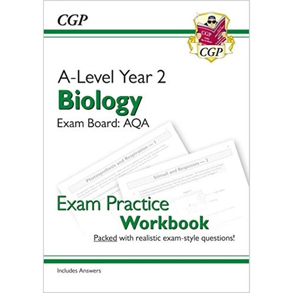 New A-Level Biology: AQA Year 2 Exam Practice Workbook - includes Answers  Paperback / softback 2018
