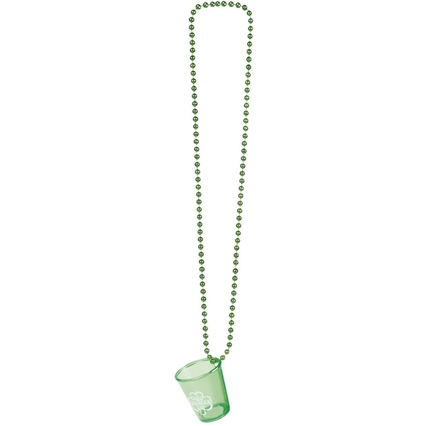 St Patricks Day Shot Glass Necklace Fancy Dress