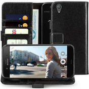 Sony Xperia XA1 Plus Leather ID Wallet - Black