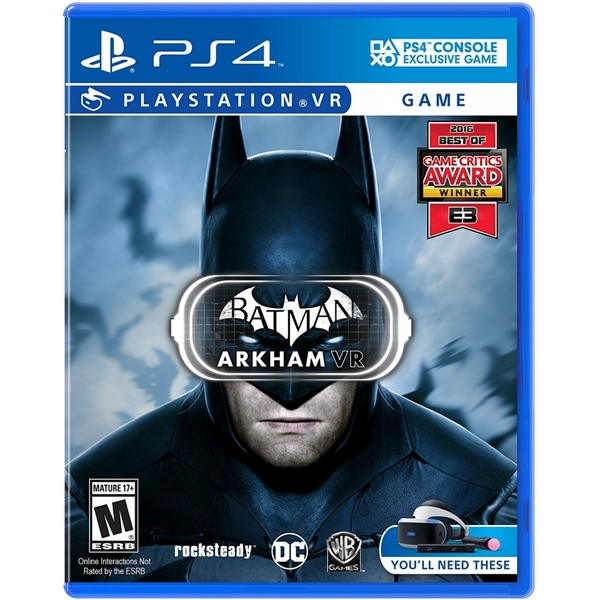 Batman Arkham VR PS4 Game (PSVR Required)