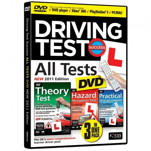 Driving Test Success All Tests DVD 2011 Edition for DVD Player PC