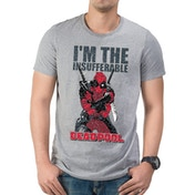 Deadpool - Im The Insufferable Men's Medium T-Shirt - Grey