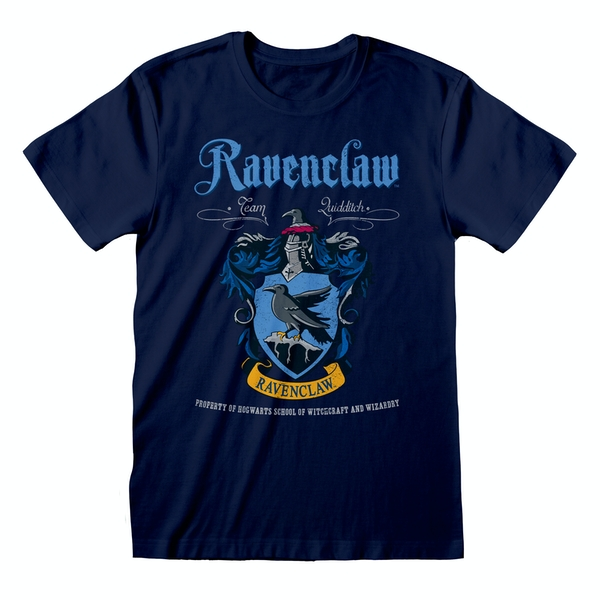 Harry Potter - Ravenclaw Crest Unisex Small T-Shirt - Navy