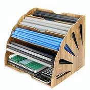 Wooden Desk Organiser | Pukkr Fan IHB USA (NEW)