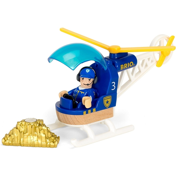 BRIO World - Police Helicopter Playset