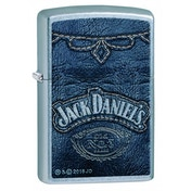 Zippo Jack Daniel'S Denim Print Windproof Pocket Lighter Street Chrome