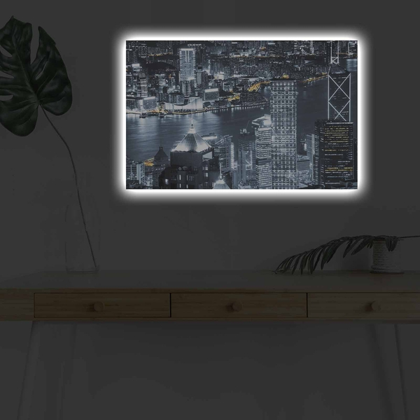 4570DHDACT-122 Multicolor Decorative Led Lighted Canvas Painting