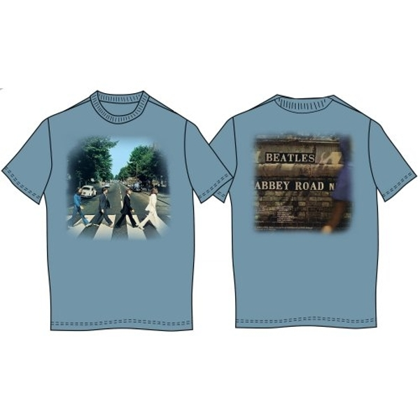 The Beatles - Abbey Road Unisex Small T-Shirt - Blue
