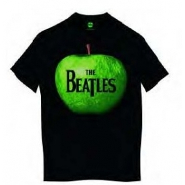 The Beatles Apple Mens Black T Shirt: Medium