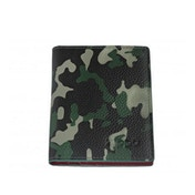 Zippo Green Camouflage Leather Credit Card Holder (10.5 x 8 x 1cm)
