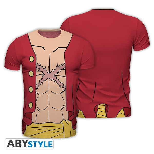 """One Piece - Replica """"Luffy New World"""" Men's Large T-Shirt - Multi-colour"""
