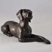 Weimaraner by Harriet Glen Cold Cast Bronze Sculpture 12cm