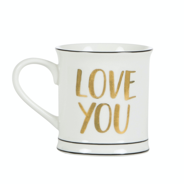 Sass & Belle Gold Love You Mug