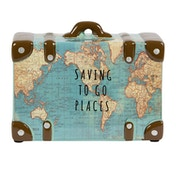 Sass & Belle Saving to Go Places Vintage Map Money Bank