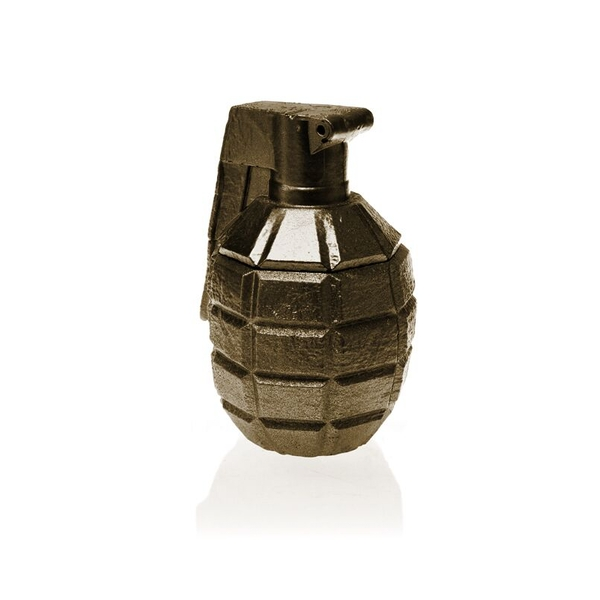 Brass Concrete Grenade For Him Candle - Image 1