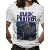 Black Panther Movie - White Logo Image Men's Large T-Shirt - White