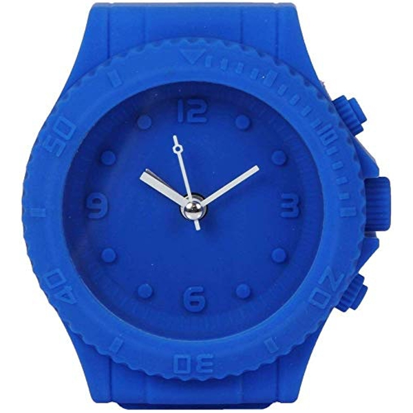 Just 4 Kids Silicone Mantel Clock - Blue Watch Style