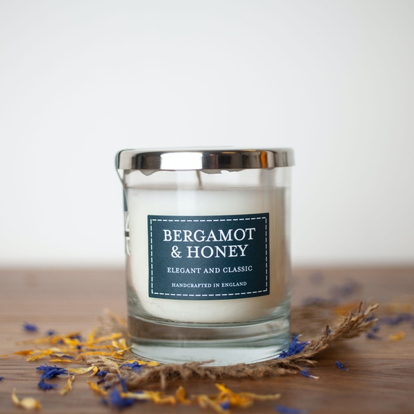 Bergamot & Honey (Pastel Collection) Glass Country Candle