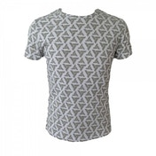 Assassin's Creed Abstergo Logo All-Over Print Small T-Shirt - Light Grey