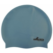 SwimTech Silicone Swim Cap Sky Blue