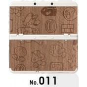New Nintendo 3DS Cover Plates No 011 Wood Emboss Faceplate