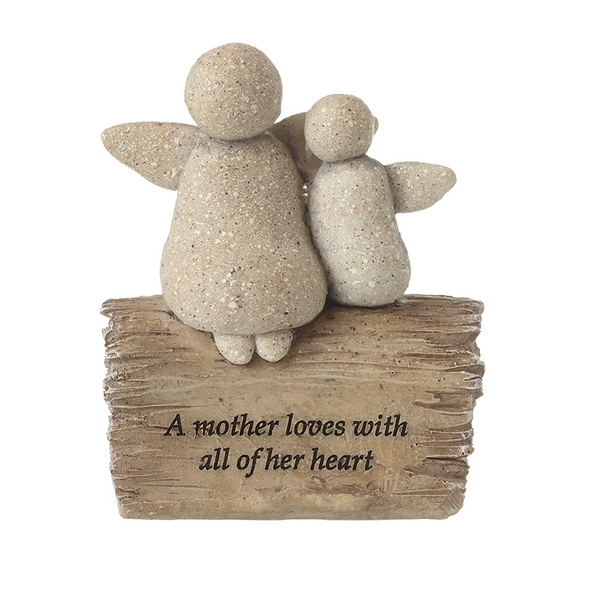 Mother Love Angels Resin Stone By Heaven Sends