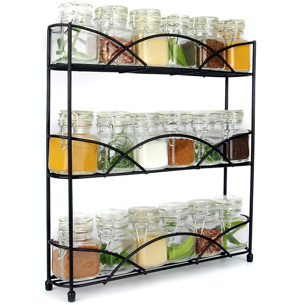 3 Tier Herb & Spice Rack | M&W Black - Image 1