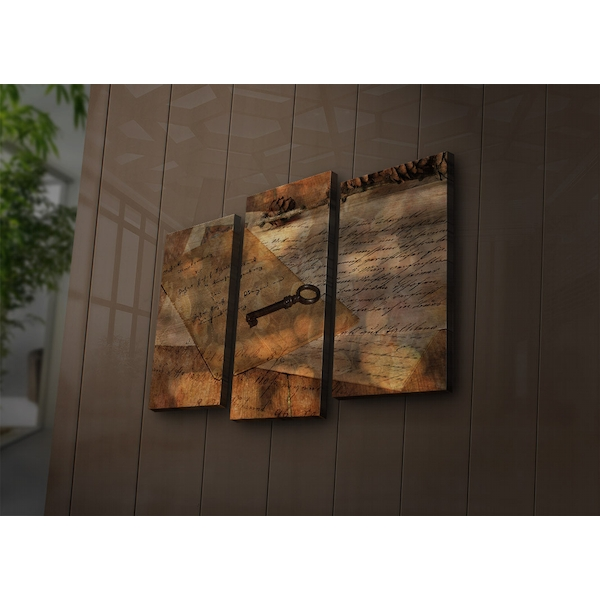 3PAT?ACT-11 Multicolor Decorative Led Lighted Canvas Painting (3 Pieces)