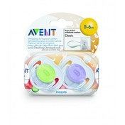 Philips AVENT SCF170/18 Translucent Soother (0-6 Months - 2-Pack)
