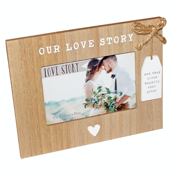 Love Story Wooden Our Love Story Photo Frame | 6x4