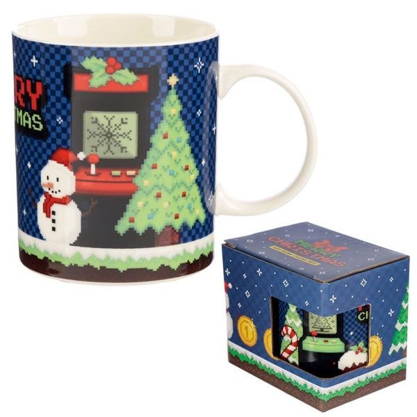 Christmas Game Over New Bone China Mug