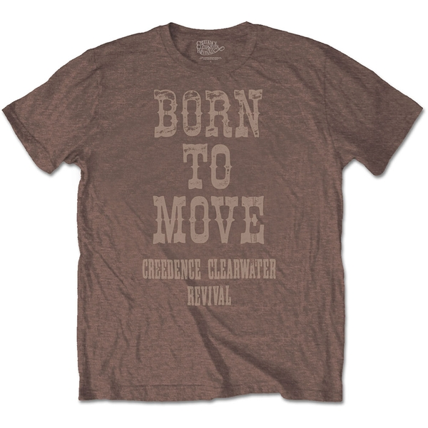 Creedence Clearwater Revival - Born To Move Unisex Large T-Shirt - Brown