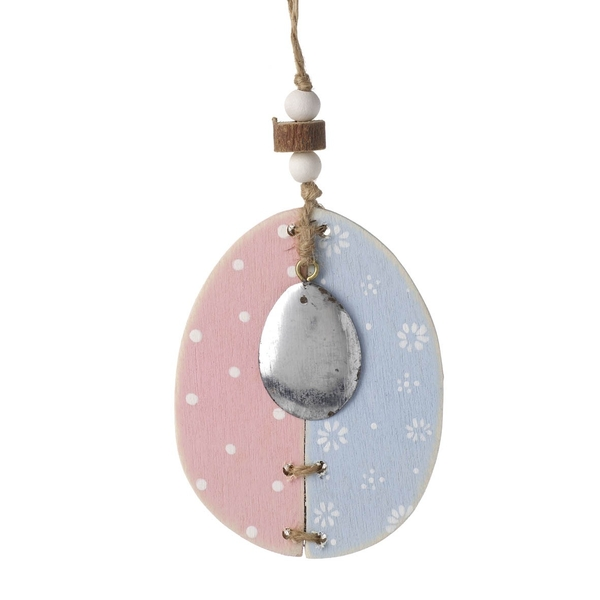 Wooden Hanging Egg by Heaven Sends