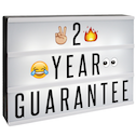 A4 Lightbox with 205 Letters & Emoji | M&W
