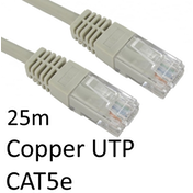 RJ45 (M) to RJ45 (M) CAT5e 25m Grey OEM Moulded Boot Copper UTP Network Cable