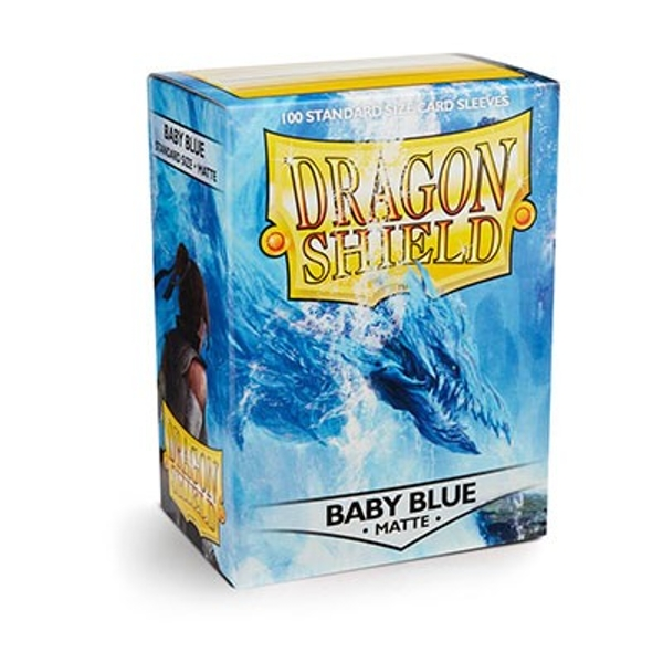 Dragon Shield Matte - Baby Blue 100 Sleeves In Box Limited Edition - 10 Packs