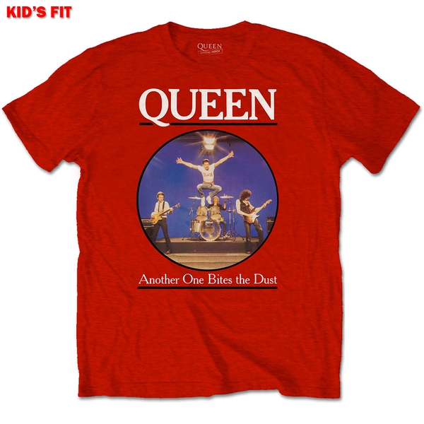 Queen - Another Bites The Dust Kids 13 - 14 Years T-Shirt - Red