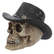 Skull with Adventurer Hat Ornament