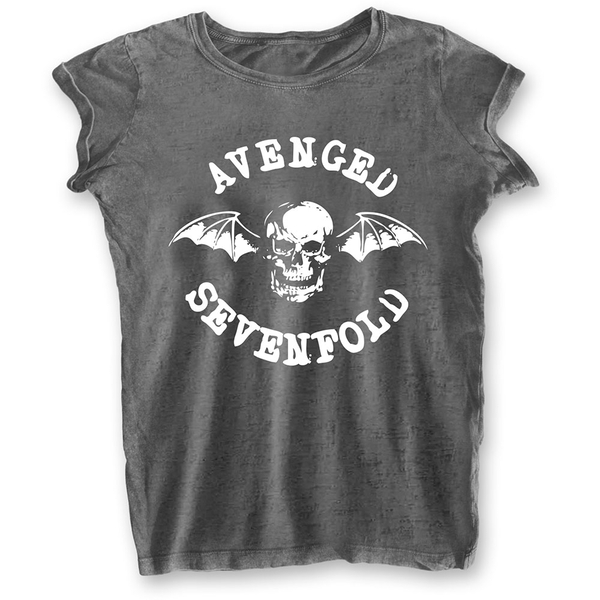 Avenged Sevenfold - Deathbat Ladies Large T-Shirt - Grey