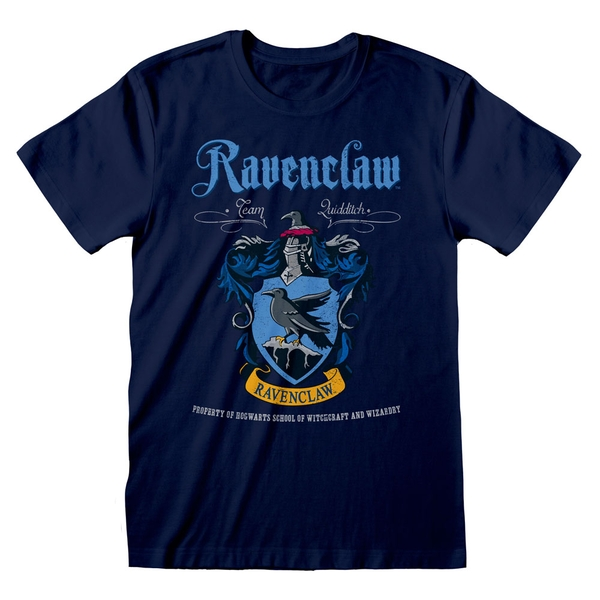 Harry Potter - Ravenclaw Crest Team Quidditch Unisex Large T-Shirt - Blue