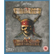 Pirates of The Caribbean The Curse of The Black Pearl & Dead Mans Chest Blu-Ray