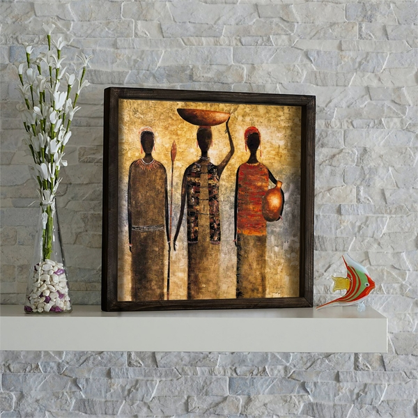 KZM583 Multicolor Decorative Framed MDF Painting