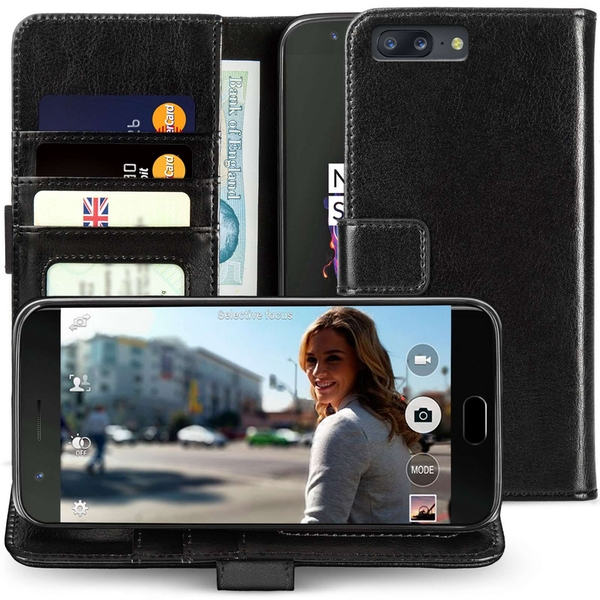OnePlus 5 Real Leather ID Wallet - Black