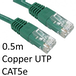 RJ45 (M) to RJ45 (M) CAT5e 0.5m Green OEM Moulded Boot Copper UTP Network Cable - Image 2